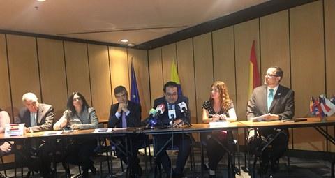 LKS, Alecop, Unión Europea y Alta Consejería para el Posconflicto de Colombia firman un contrato para la ejecución de proyectos de paz