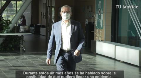 """Mikel Alvarez: """"A la espera de la vacuna, necesitamos más muestras y pruebas. No tenemos otra forma de limitar el virus"""""""