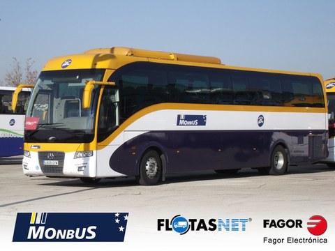 MONBUS implanta el sistema de gestión de flotas de Fagor Electrónica, en sus autobuses y microbuses