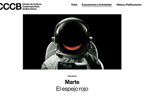 """MONDRAGON en la exposición """"Marte, el espejo rojo"""" del Centre de Cultura Contemporània de Barcelona"""