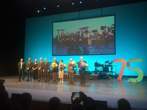 Mondragon Goi Eskola Politeknikoa celebra su aniversario con un emotivo acto en el Kursaal