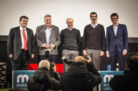 Mondragon Unibertsitatea reúne en Eskoriatza a los alcaldes de las cuatro capitales de Hegoalde y Maule, todos euskaldunes