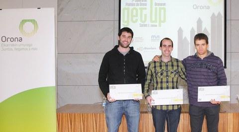 Dos alumnos de Mondragon Unibertsitatea logran el primer y segundo premio en los premios 'Get Up Orona'