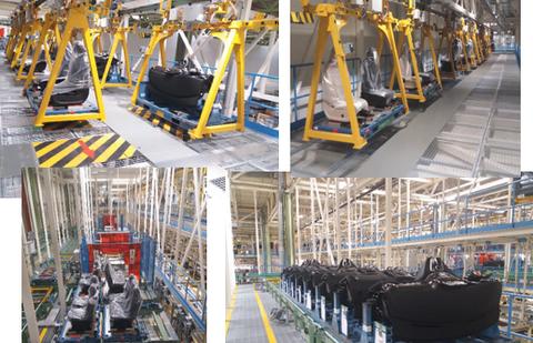 MSI Grupo desarrolla la instalación del transporte automático en Mercedes Benz Vitoria