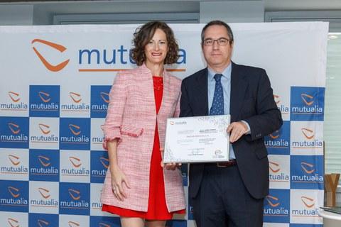 """Mutualia reconoce a ONDOAN por su contribución """"excelente"""" a la reducción de la siniestralidad laboral"""