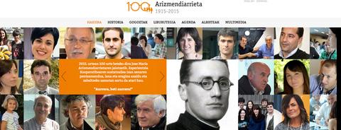 Nueva web sobre el centenario de Arizmendiarrieta