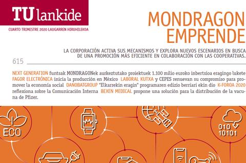 TU Lankide analiza la actividad emprendedora de MONDRAGON en su último número