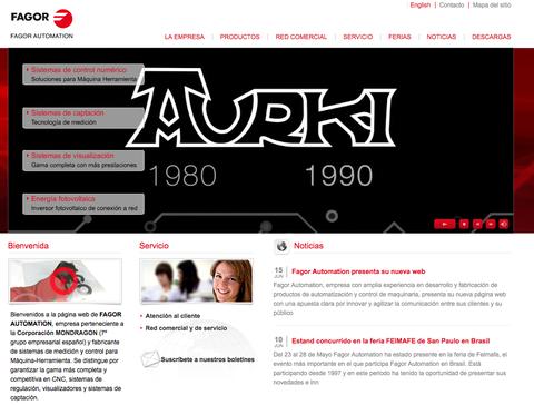 Nuevo sitio web de Fagor Automation