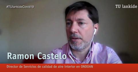 """""""Nos estamos centrando en la desinfección de espacios ligados al transporte y la salud: Metro Madrid, Hospital de Cruces..."""""""
