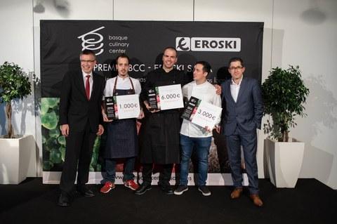 """Oriol Casals del restaurante Teòric de Barcelona, ganador del """"VII premio BCC EROSKI saria"""""""