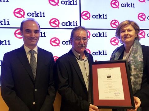 Orkli, primera empresa industrial que recibe el certificado AENOR de empresa saludable
