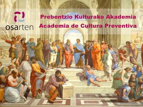 Osarten lanza la programación 2021 de la Academia de Cultura Preventiva