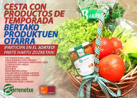 Participa en nuestro concurso y gana una cesta de productos Barrenetxe