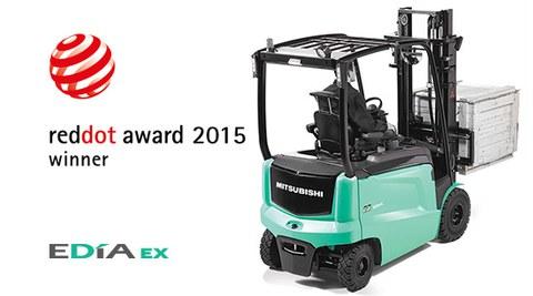 Premio Red DotAward 2015 para la Mitsubishi EDIA EX comercializada por Ulma Carretillas Elevadoras