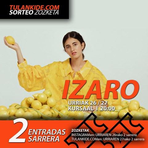 ¿Quieres asistir al concierto de IZARO?