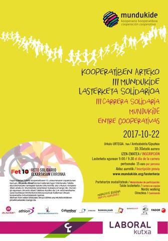 Recta final para inscribirse en la III Carrera Solidaria entre cooperativas de Mundukide