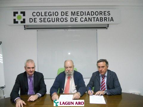 Seguros Lagun Aro firma un acuerdo de colaboración con el Colegio de Mediadores de Cantabria