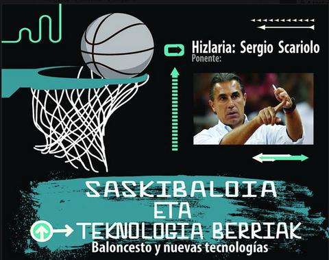 """Sergio Scariolo hablará sobre """"baloncesto y nuevas tecnologías"""" en Arrasate"""