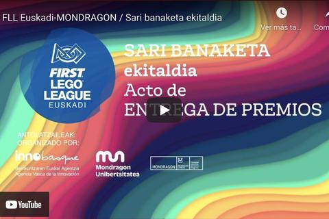 Sigue en directo en TU Lankide la entrega de trofeos de FLL Euskadi-MONDRAGON