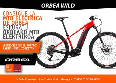 ¡Sorteamos una bicicleta eléctrica WILD-ORBEA!