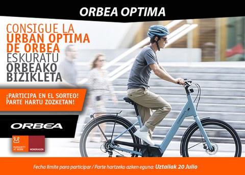 "¡Sorteamos una bicicleta ""Urban Optima"" de ORBEA!"