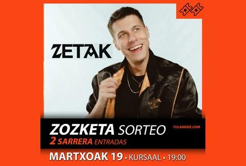 Sorteo: 2 entradas para el concierto de ZETAK