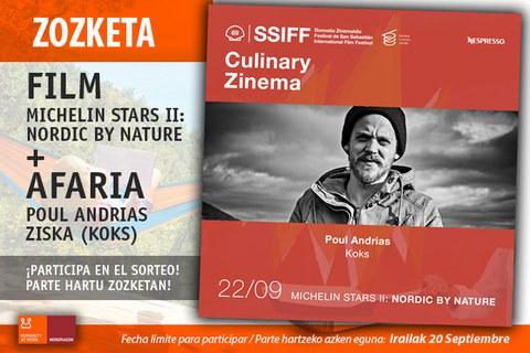 Participa en el sorteo de dos entradas para Culinary Zinema