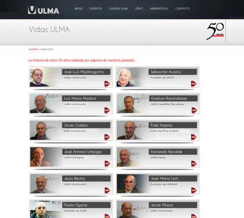 ULMA ha estrenado el sitio web del 50 aniversario