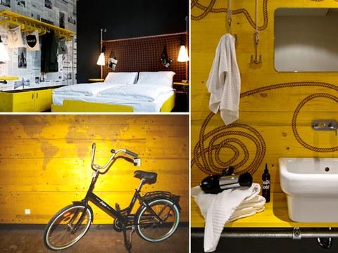 Un hotel de Hamburgo diseñado a base de tableros tricapa de Lana