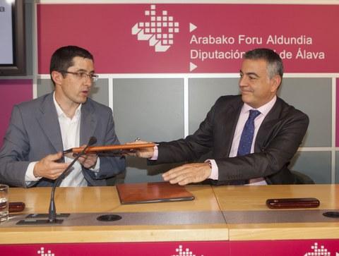 Arabako Foru Aldundiak hitzarmena sinatu du Basque Culinary Centerrekin, arabar produktuak bultzatzeko