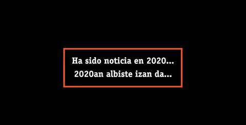 2020ko laburpena, minutu batean