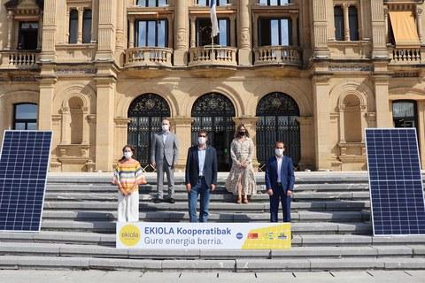 Ekiola energia-kooperatiba sustatuko duen lehen hiriburua izango da Donostia