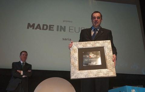 "Fagor Arrasatek ""Made in Euskadi"" saria jaso du"