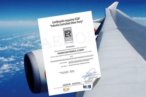 Fagor Electronicak aeronautika alorrean EN 9100 eta EN 9110 ziurtagiriak eskuratu ditu