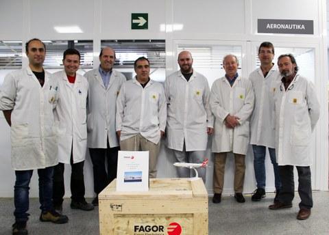 Fagor Electronicak hegaldiko 100. ekipoa entregatu dio Airbus handiari