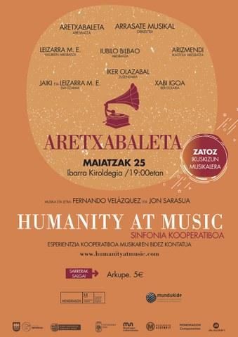 """""""Humanity at Music - Aretxabaleta"""" ikuskizunerako bi sarrera irabazi nahi?"""