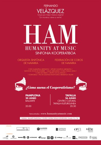 """Humanity at Music - Iruñea"" ikuskizunerako bi sarrera irabazi nahi?"