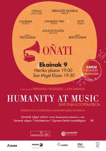 """Humanity at Music - Oñati"" ikuskizunerako bi sarrera irabazi nahi?"