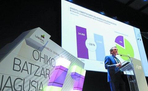 Laboral Kutxak % 7,3 handitu ditu mozkinak urteko lehen seihilekoan, 72,6 milioi euro irabazita