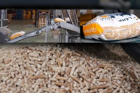 LANA kalitate-ziurtagiria duen pellet-produkzioan sartu da buru belarri