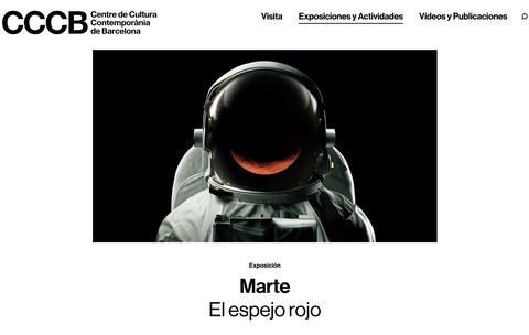 """MONDRAGON, Bartzelonako Kultura Garaikideko Zentroko """"Marte, el espejo rojo"""" erakusketan"""