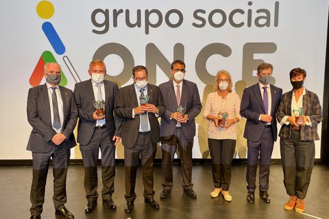 """Solidarios ONCE"" sarien banaketa ekitaldia"